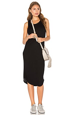 Assembly Label Luxe Ribbed Dress in Black