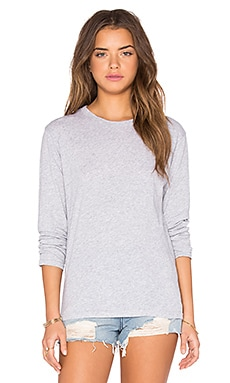 Bay Long Sleeve Tee en Gris Chiné