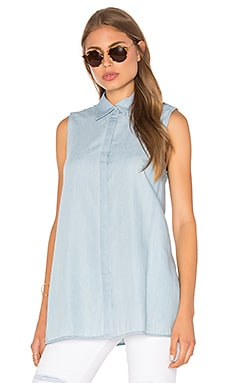 Division Sleeveless Shirt in Denim