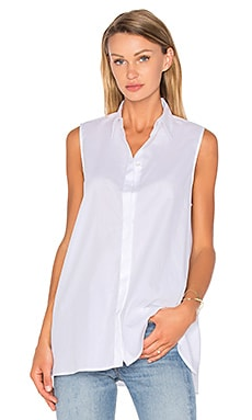 Division Sleeveless Top in White
