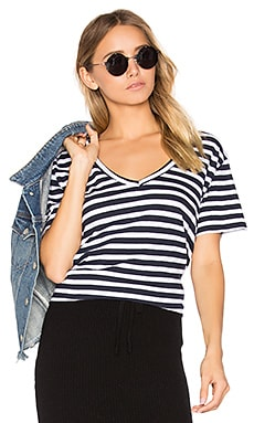 Abode Tour Stripe Tee in Navy & White