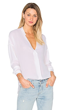 Laila Silk Top in White