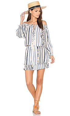 Blair Dress in Cream Cool Stripe