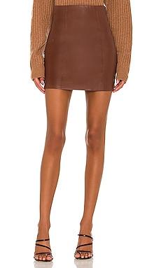 Meika Vegan Leather Skirt ASTR the Label $88