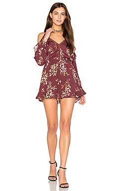 Amina Romper in Burgundy Multi Floral