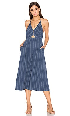 Alexa Jumpsuit in Denim Blue Stripe