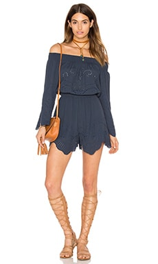 ASTR Sofia Romper in Navy