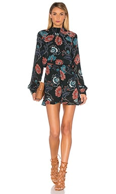 ASTR Eva Romper in Dark Green Floral