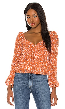 Long Sleeve Sweetheart Top ASTR the Label $65