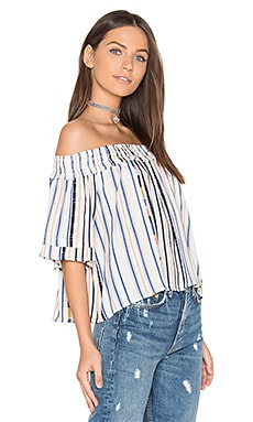 Esme Top in Cream Cool Stripe