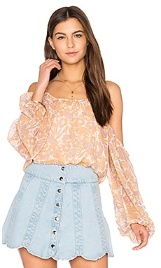 Josephine Top in Pink-Amber Floral