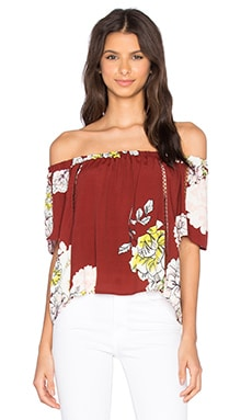 ASTR Lantana Top in Rust Multi Floral