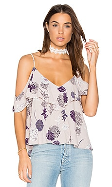 Emmie Top in Grey Multi Floral