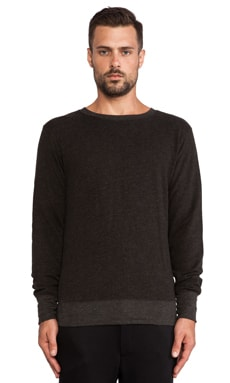 ATM Anthony Thomas Melillo French Terry Pullover in Charcoal Heather