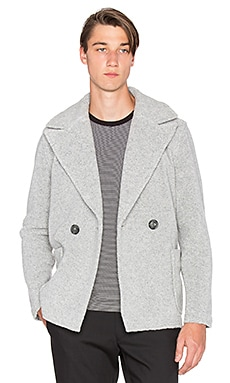 ATM Anthony Thomas Melillo Wool Shearling Coat in Heather Grey