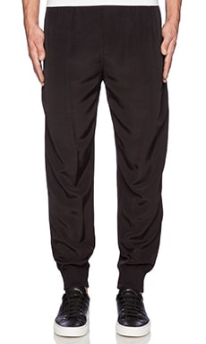 ATM Anthony Thomas Melillo Pull On Faille Track Pants in Black