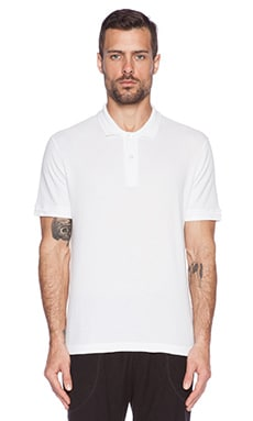 ATM Anthony Thomas Melillo Pique Polo in White