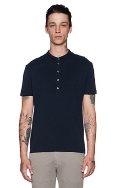 ATM Anthony Thomas Melillo Half Collar Polo en Marine