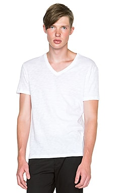 ATM Anthony Thomas Melillo Basic Slub V-Neck in White