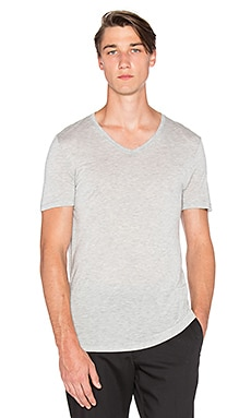 ATM Anthony Thomas Melillo Vintage Jersey V Neck in Heather Grey