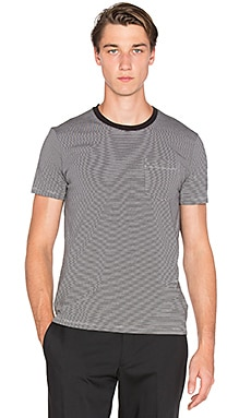 ATM Anthony Thomas Melillo Hairpin Stripe Tee in Black & White