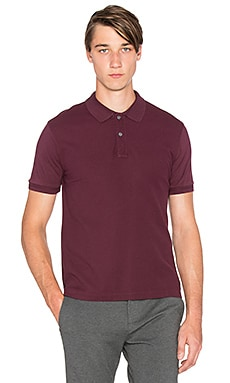 ATM Anthony Thomas Melillo Mixed Media Polo in Burgundy