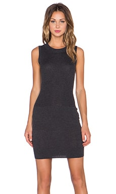 ATM Anthony Thomas Melillo Engineered Rib Sweater Dress in Charcoal Heather