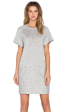 ATM Anthony Thomas Melillo Baseball Dress in Grey Stripe Combo