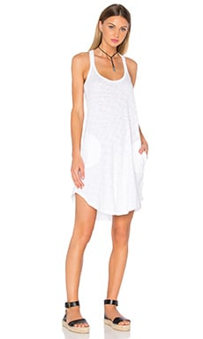 ATM Anthony Thomas Melillo Trapeze Tank Dress in White