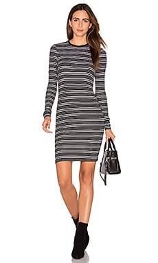 Stripe Long Sleeve Dress – 黑色&白色条纹