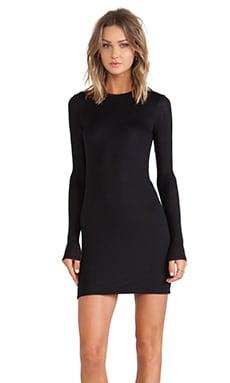 ATM Anthony Thomas Melillo Long Sleeve Bodycon Dress in Black