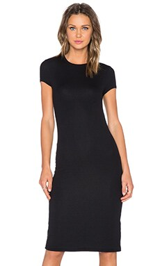 ATM Anthony Thomas Melillo Cap Sleeve Dress in Black