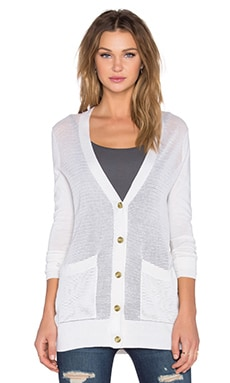ATM Anthony Thomas Melillo Pointele Cardigan in Ivory