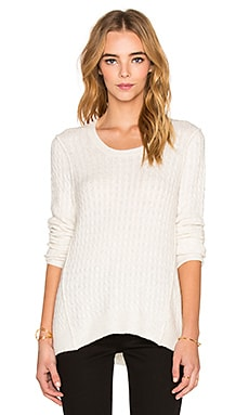 Cable Knit Sweater in Shell