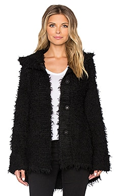 ATM Anthony Thomas Melillo Hooded Cozy Cardigan in Black