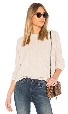 Chenille Crew Neck Sweater