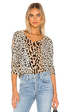 Mixed Leopard Print V Neck Sweater ATM Anthony Thomas Melillo $207