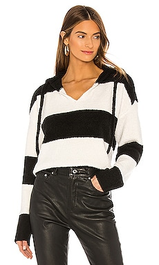 Chenille Bold Stripe Hoodie Sweater ATM Anthony Thomas Melillo $375