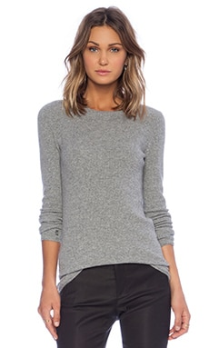 ATM Anthony Thomas Melillo Thermal Stitch Sweater in Heather Grey