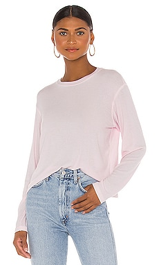 Micromodal Long Sleeve Cropped Crew Neck Top ATM Anthony Thomas Melillo $150