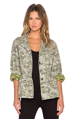 ATM Anthony Thomas Melillo Camo Field Jacket in Moss Combo