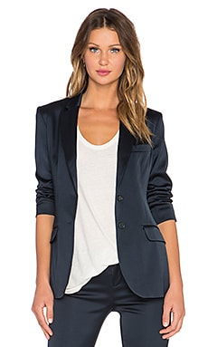 ATM Anthony Thomas Melillo Satin Blazer in Navy