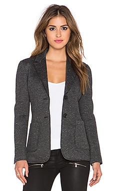 ATM Anthony Thomas Melillo Bonded Knit Sport Blazer in Charcoal Speckled Heather & Black