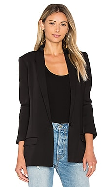 Shawl Collar Boyfriend Blazer in Black