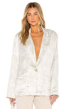 Printed Satin Single Breasted Blazer ATM Anthony Thomas Melillo $193