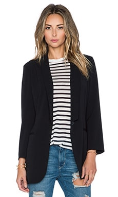 ATM Anthony Thomas Melillo Shawl Collar Blazer in Black