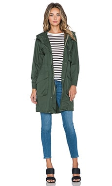 ATM Anthony Thomas Melillo Oversized Poplin Parka in Moss