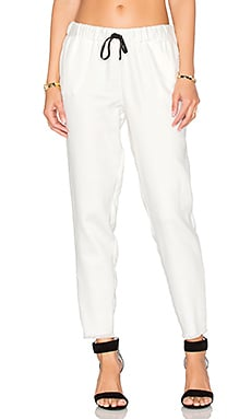 Unfinished Drawstring Pant in White