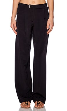 ATM Anthony Thomas Melillo Wide Leg Faille Pant in Black