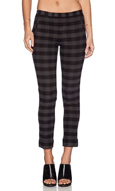 ATM Anthony Thomas Melillo Plaid Slim Pant in Grey Plaid